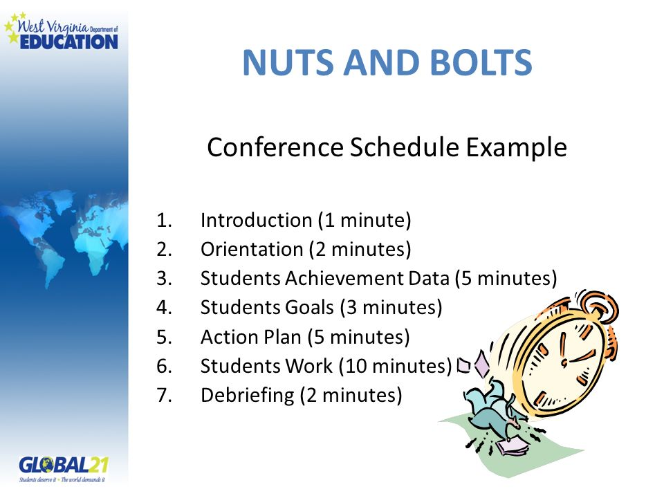 Conference Schedule Example
