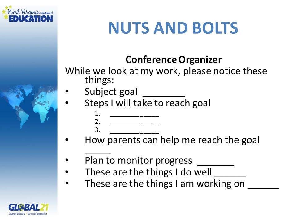 NUTS AND BOLTS Conference Organizer