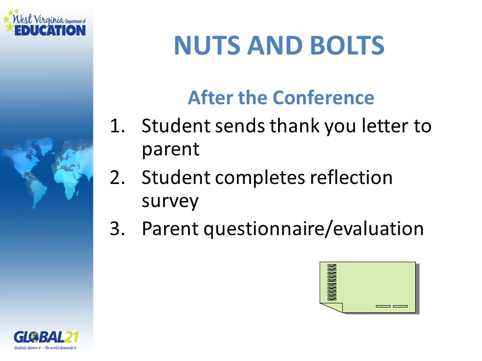 NUTS AND BOLTS After the Conference