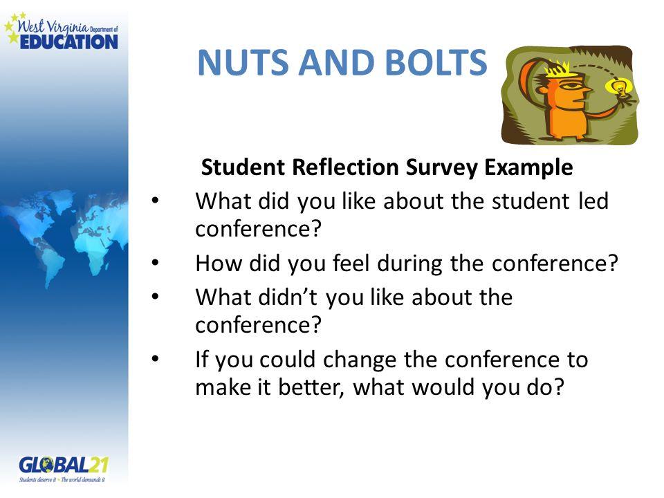 Student Reflection Survey Example