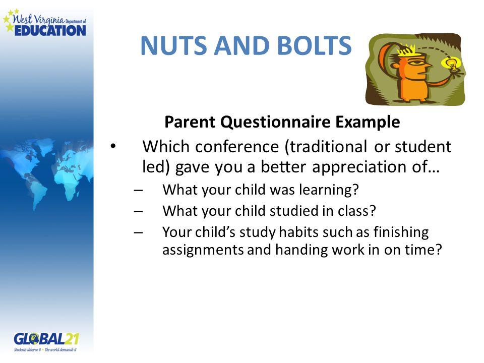 Parent Questionnaire Example