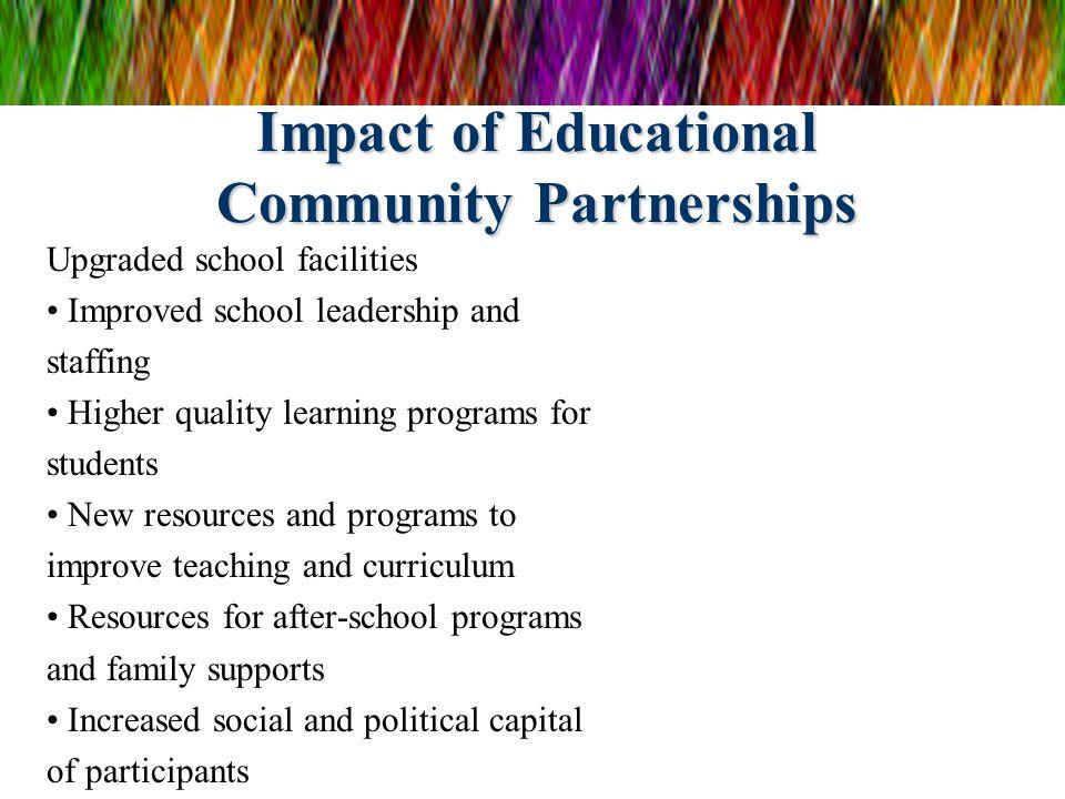 Impact of Educational Community Partnerships