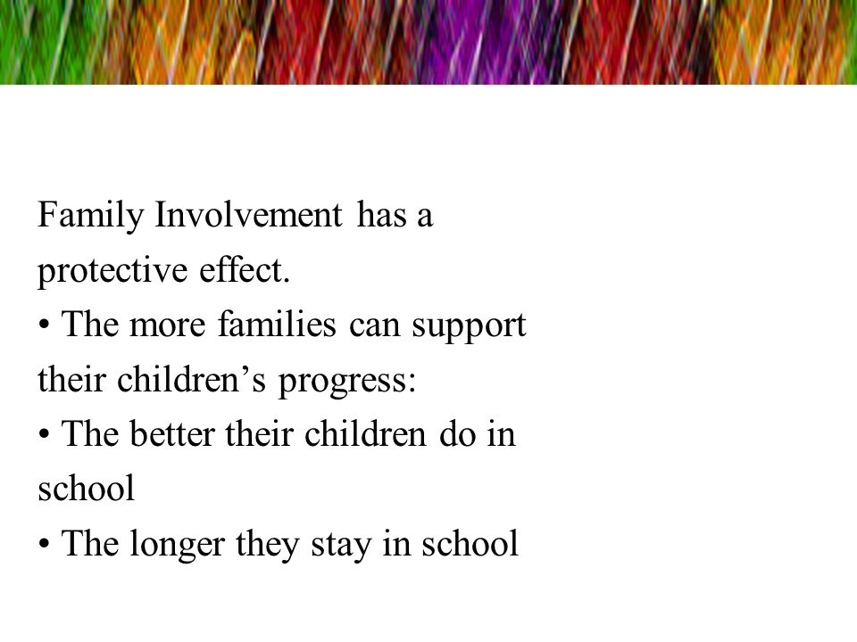 Family Involvement has a