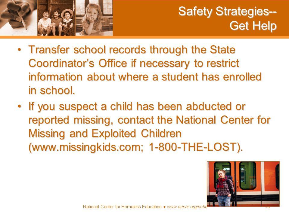 Safety Strategies-- Get Help