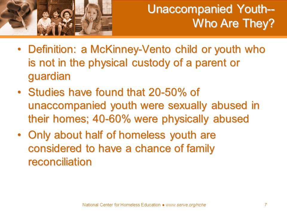 Unaccompanied Youth-- Who Are They
