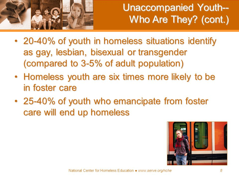 Unaccompanied Youth-- Who Are They (cont.)
