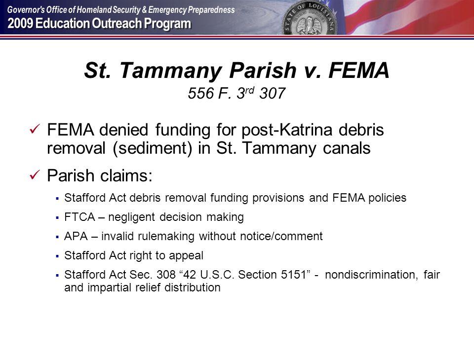 St. Tammany Parish v. FEMA 556 F. 3rd 307