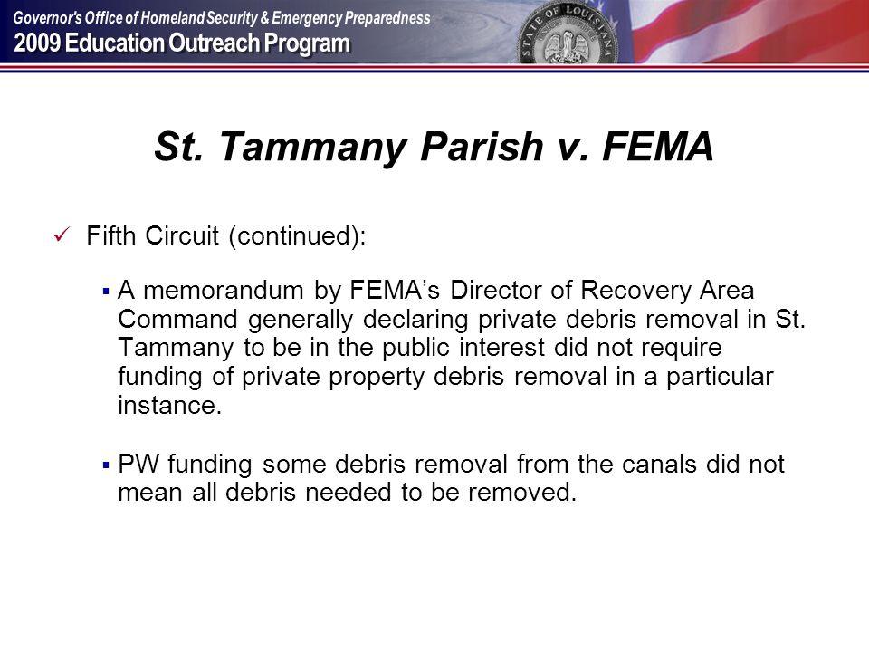 St. Tammany Parish v. FEMA
