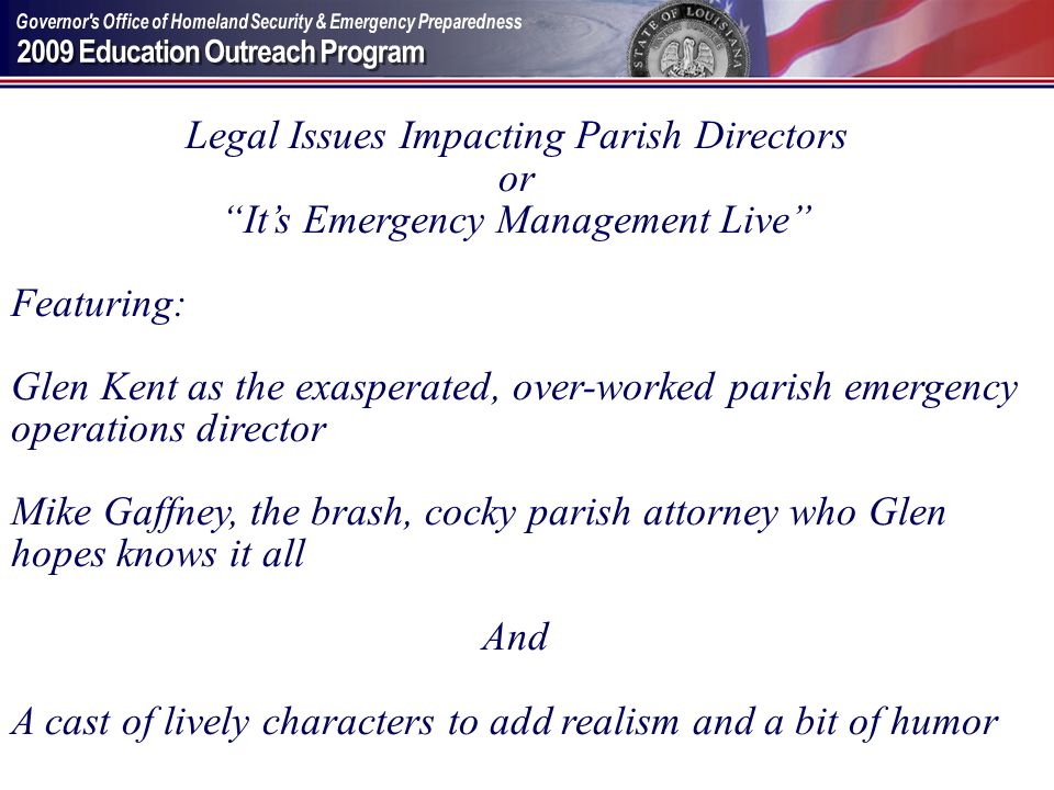 Legal Issues Impacting Parish Directors or
