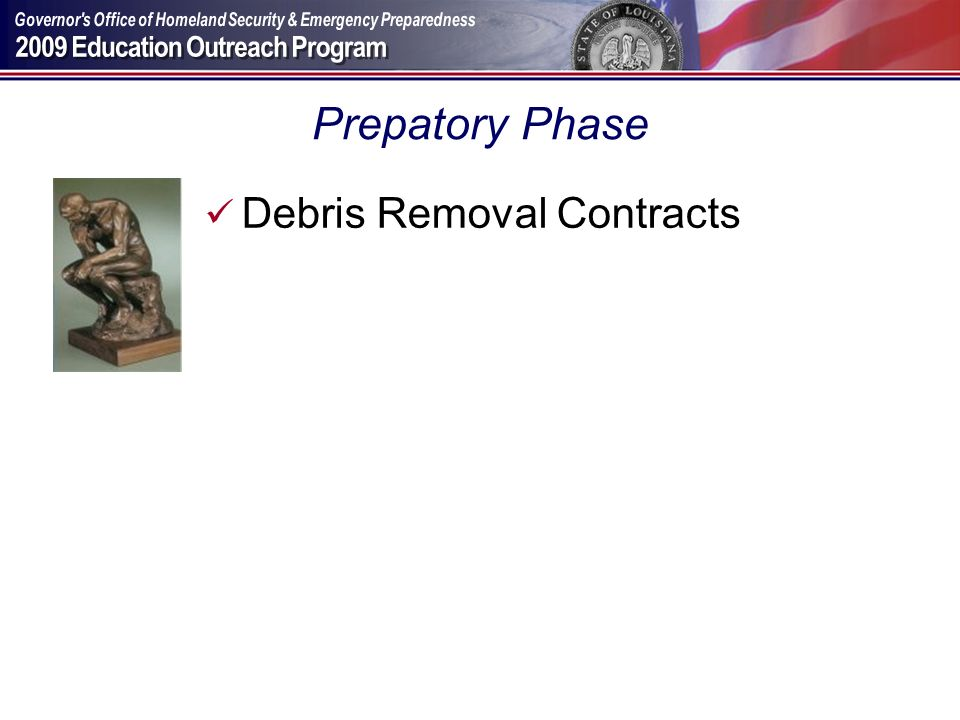 Prepatory Phase Debris Removal Contracts