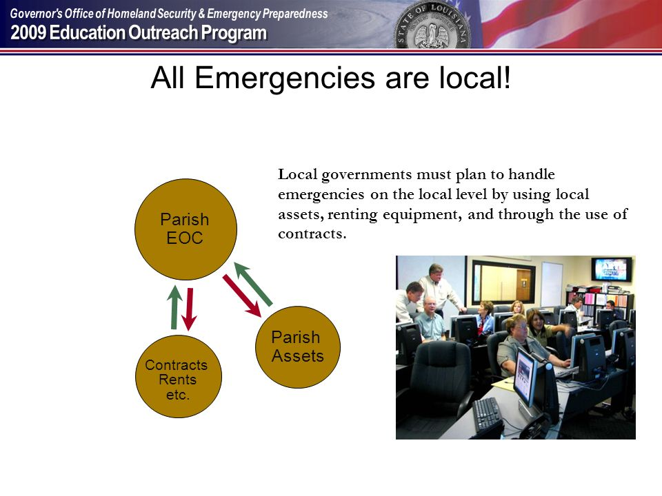 All Emergencies are local!