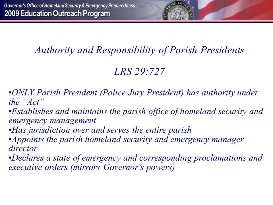 Authority and Responsibility of Parish Presidents
