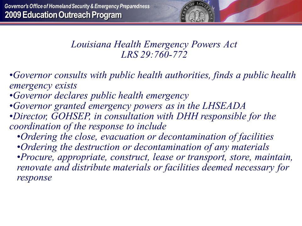 Louisiana Health Emergency Powers Act