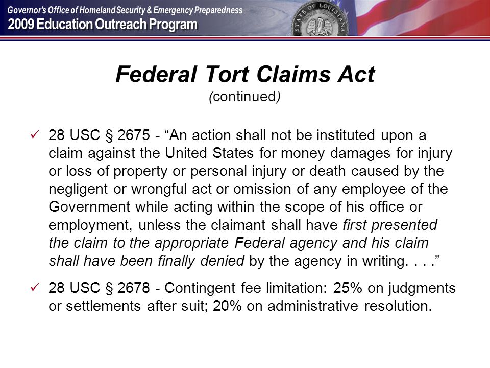 Federal Tort Claims Act (continued)