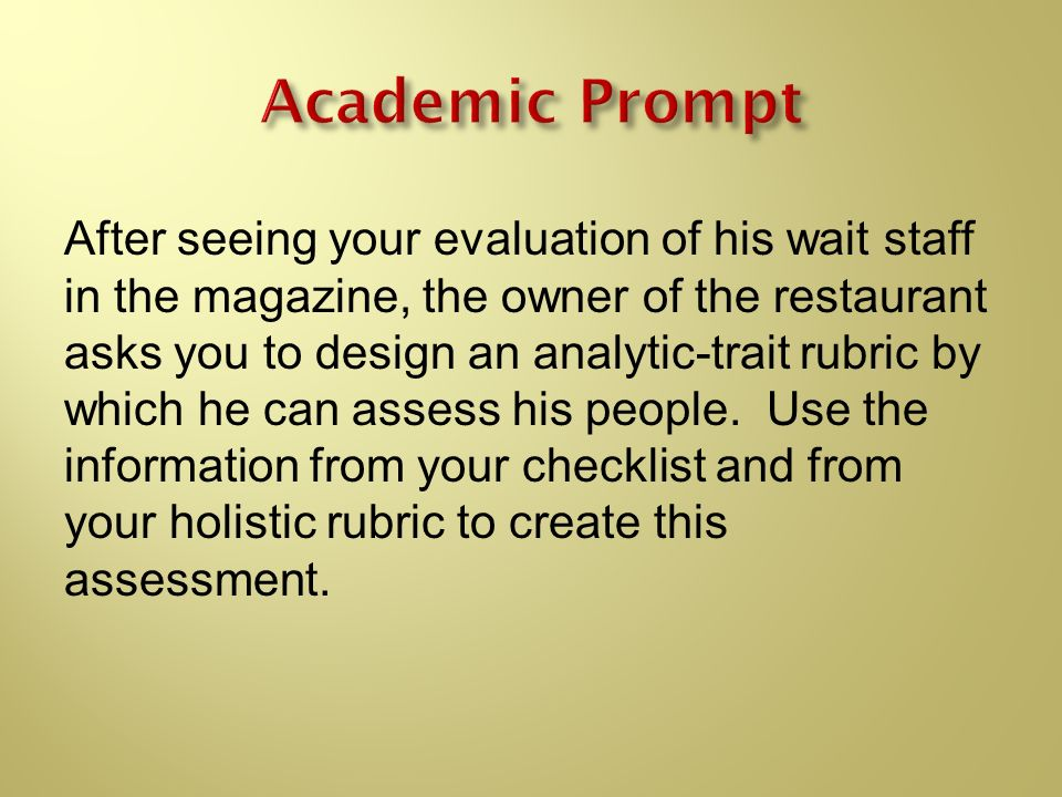 Academic Prompt