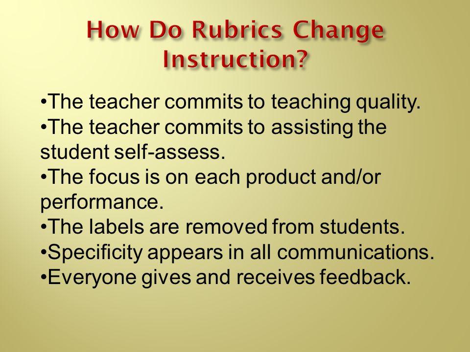 How Do Rubrics Change Instruction