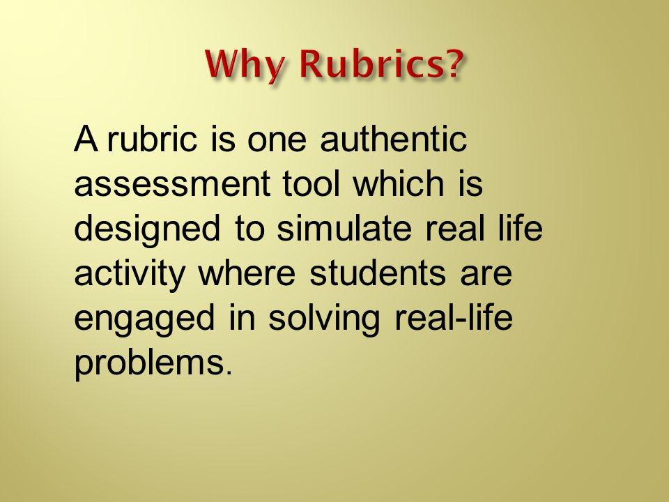 Why Rubrics