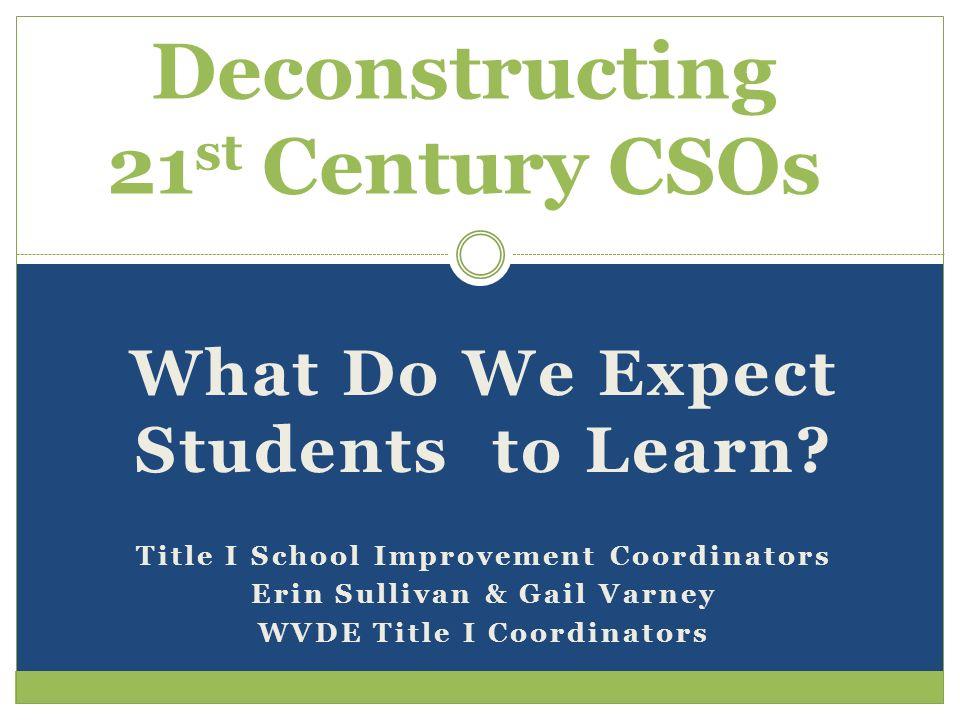 Deconstructing 21st Century CSOs