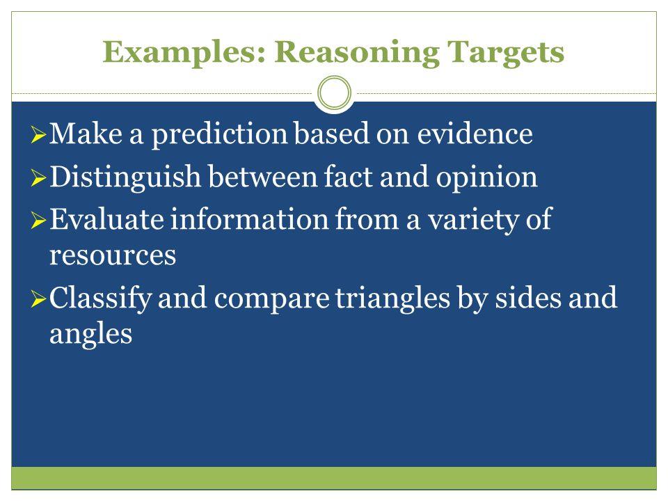 Examples: Reasoning Targets