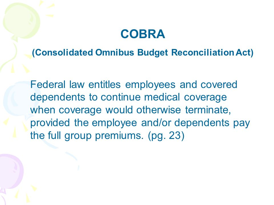 (Consolidated Omnibus Budget Reconciliation Act)