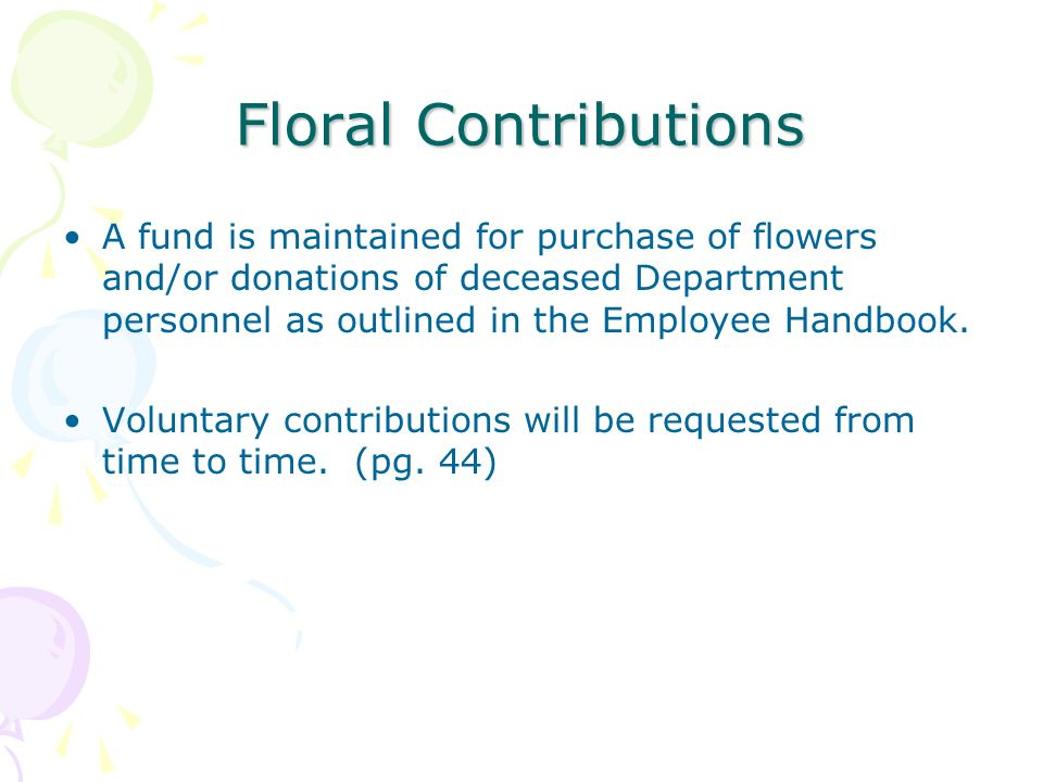 Floral Contributions