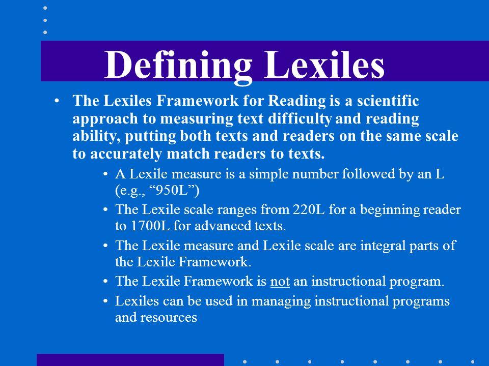 Defining Lexiles