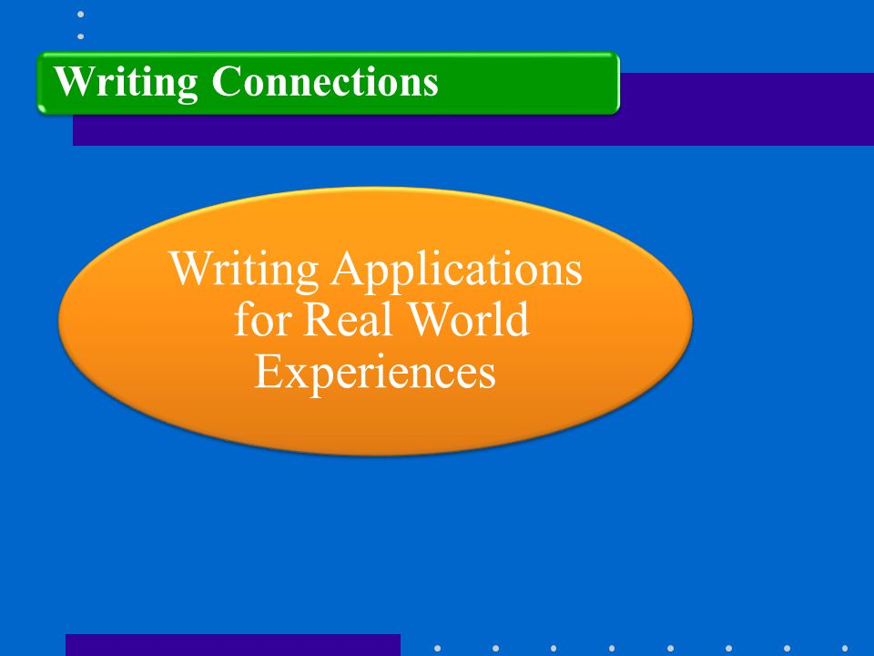 Writing Applications for Real World Experiences