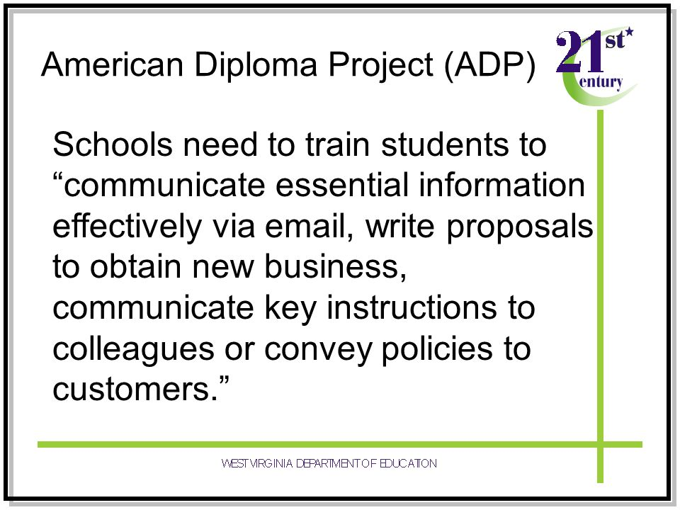 American Diploma Project (ADP)