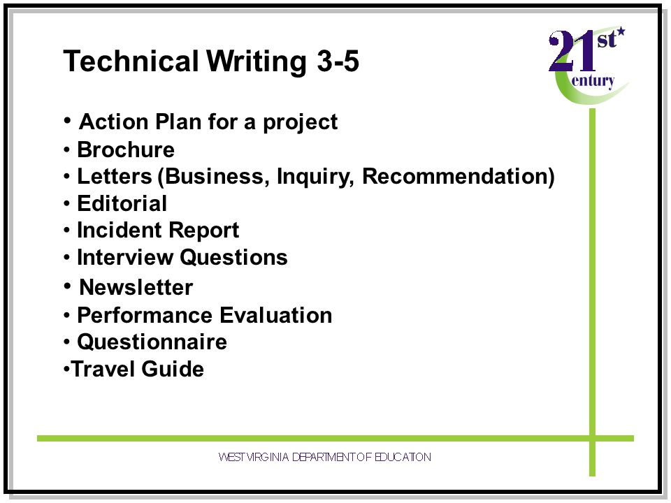 process description technical writing