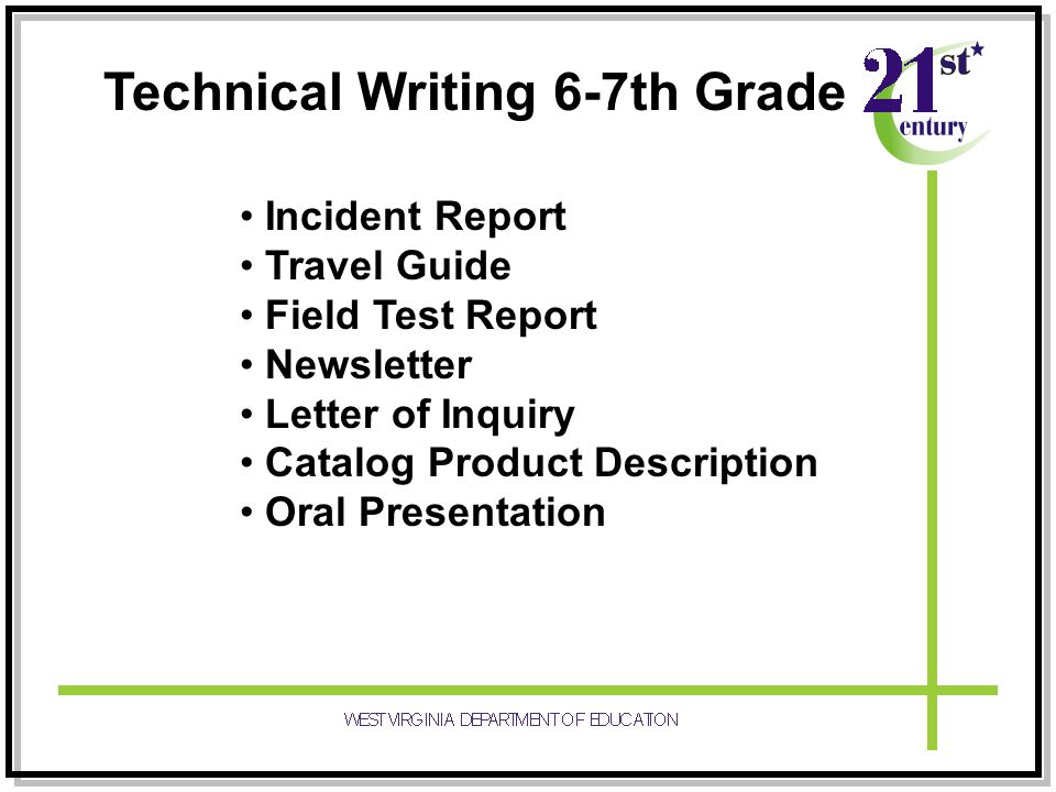 technical writing test Top 3 tasks for technical writers organize material and complete writing assignment according to set standards regarding order, clarity, conciseness, style, and terminology.
