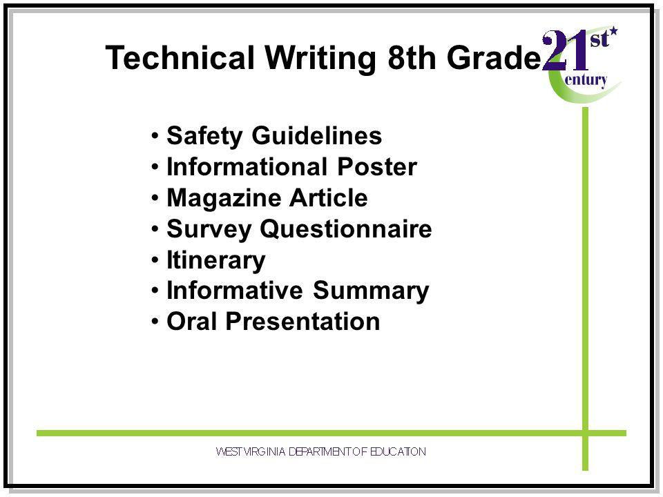 Technical Writing 8th Grade