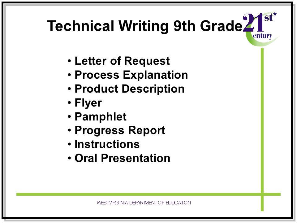 Technical Writing 9th Grade