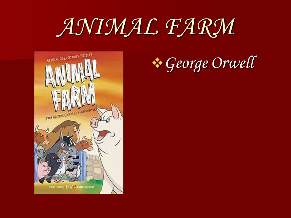 an analysis of the literary terms in animal farm by george orwell George orwell, animal farm does an insightful analysis of orwellian linguistics, and 39 peter davison, george orwell: a literary life, houndmills.