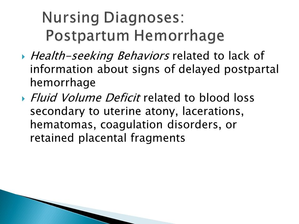 uterine atony nursing diagnosis Identify potential postpartum complications, nursing assessments and  interventions for  uterine stimulants for the treatment of uterine atony   intervention.