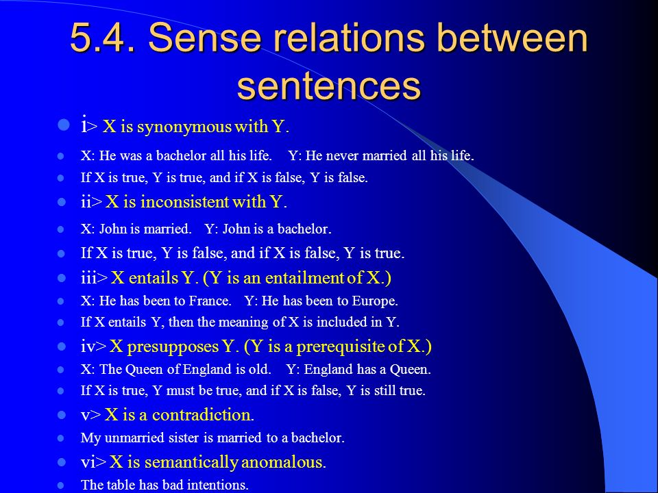 sense relations between words Lexical relationships between any pair of words″ (völker, haase, & hitzler, 2008,  p 59)  lewandowska-tomaszczyk (2004) states that lexical-semantic sense.
