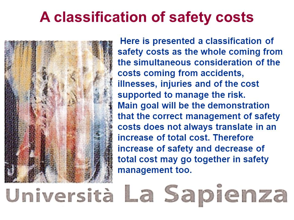 A classification of safety costs