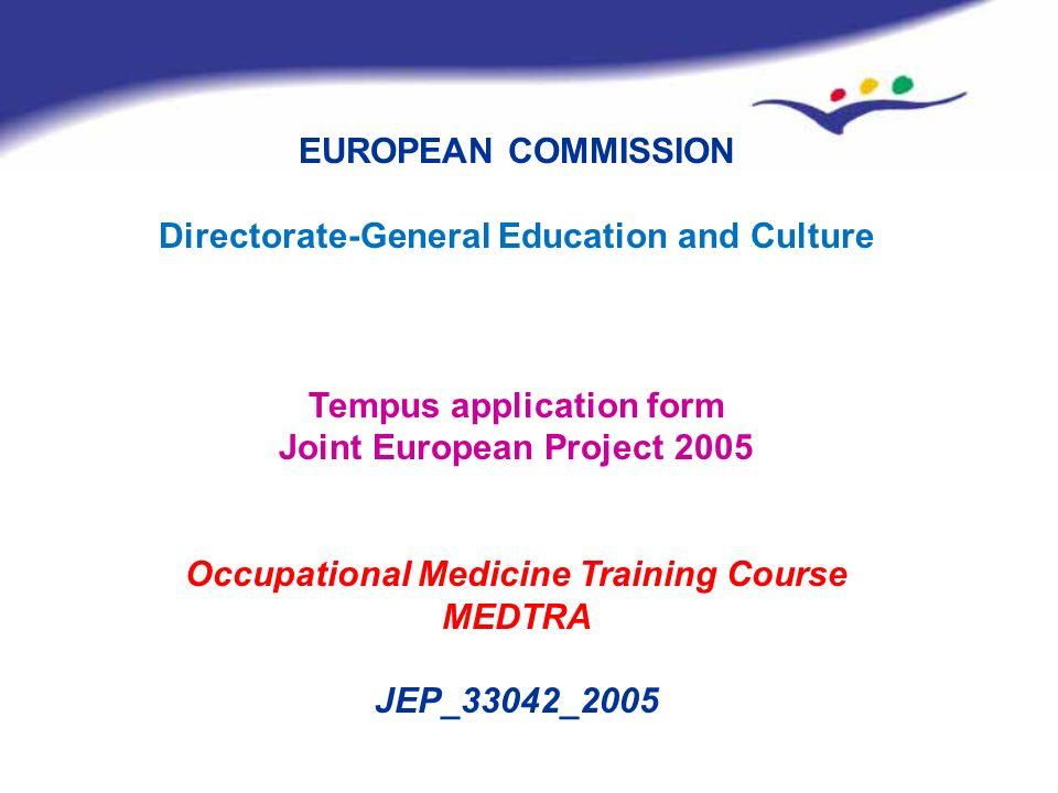 EUROPEAN COMMISSION MEDTRA JEP_33042_2005