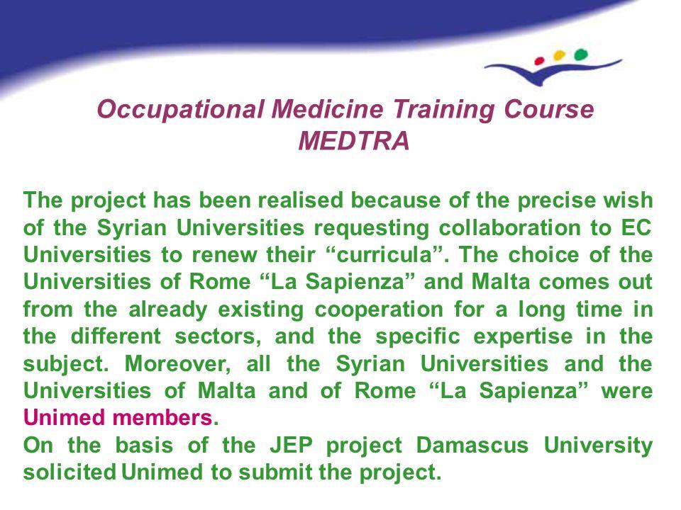 Occupational Medicine Training Course MEDTRA