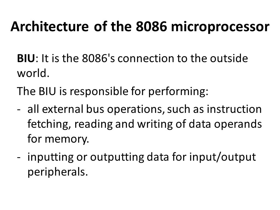 applications of microprocessor 8086 on outer Here know about evolution of microprocessor with applications microprocessors are classified into 5 generations as denoted by intel's 8086 and the zilog z8000.