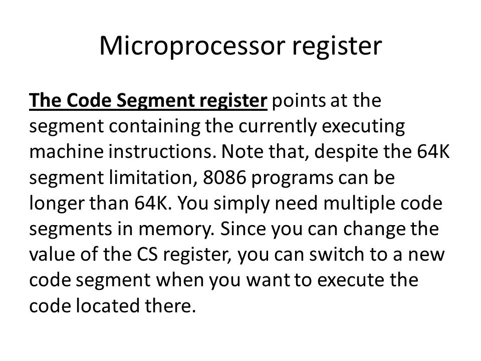 instruction register microprocessor how to know which register