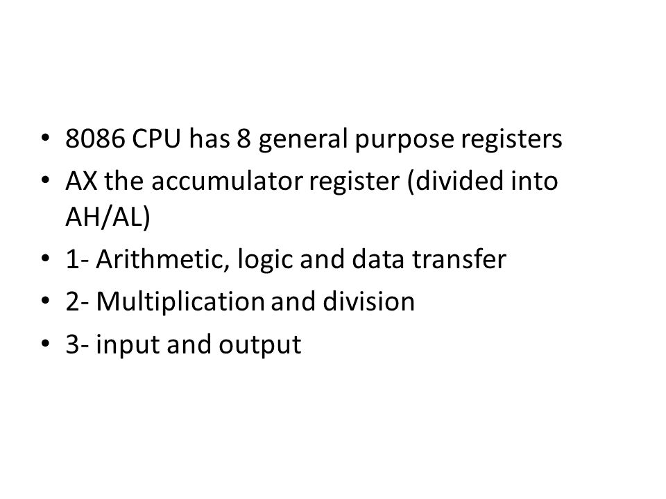 div instruction in 8086