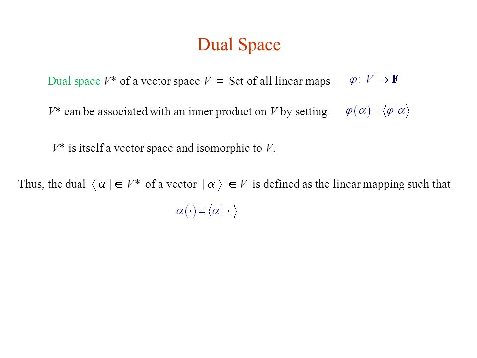 Vector space isomorphic to its dual