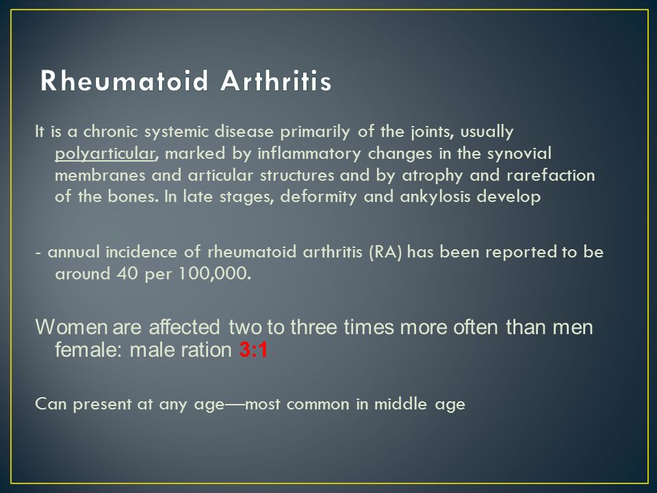 Approach to patient with Arthritis