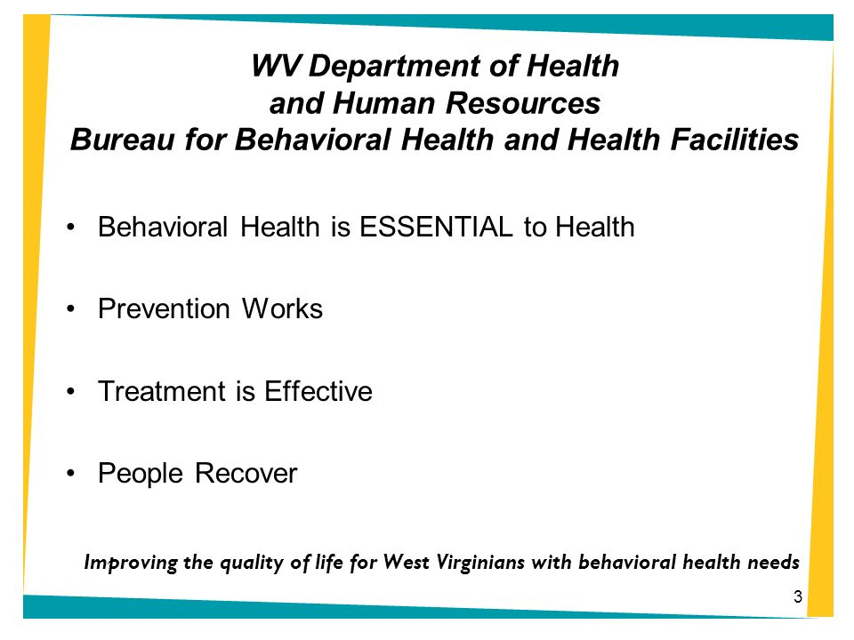 Behavioral Health is ESSENTIAL to Health Prevention Works