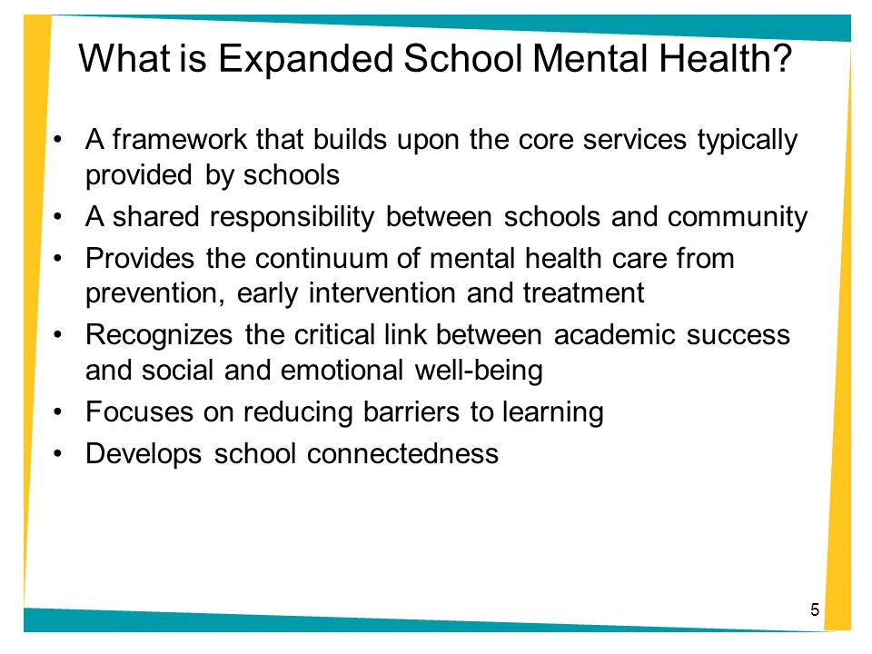 What is Expanded School Mental Health