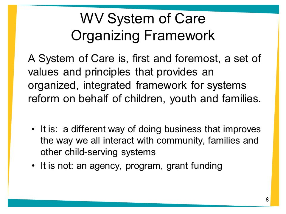 WV System of Care Organizing Framework