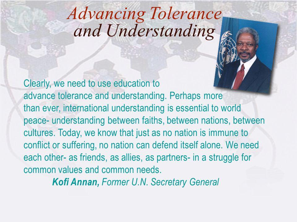 Advancing Tolerance and Understanding