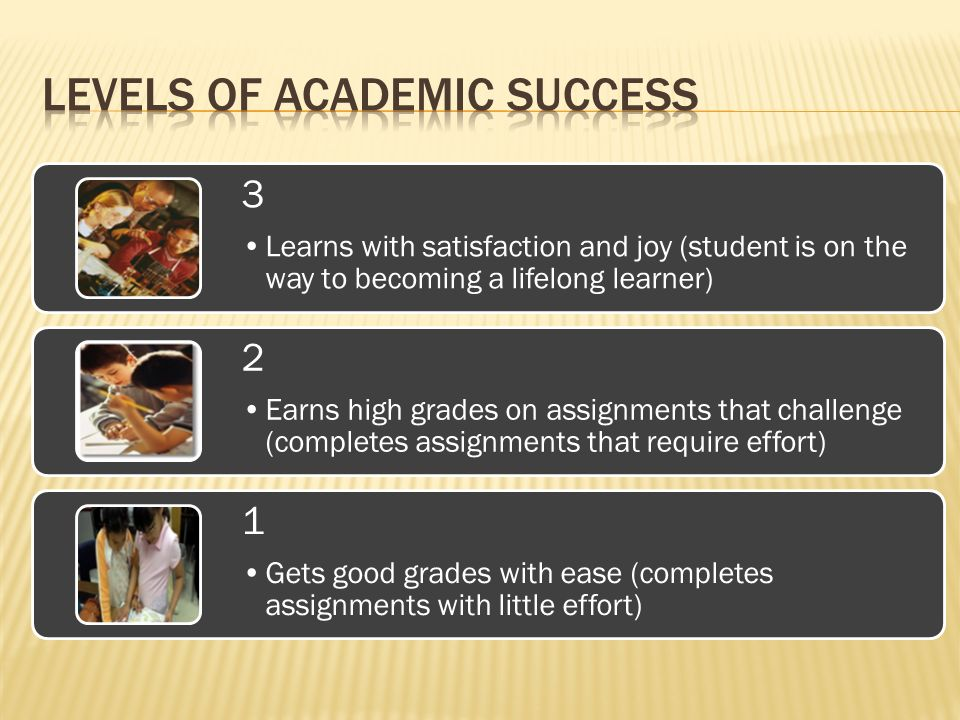 Levels of academic success