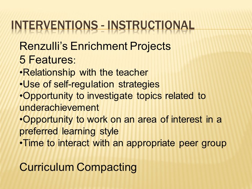 Interventions - Instructional