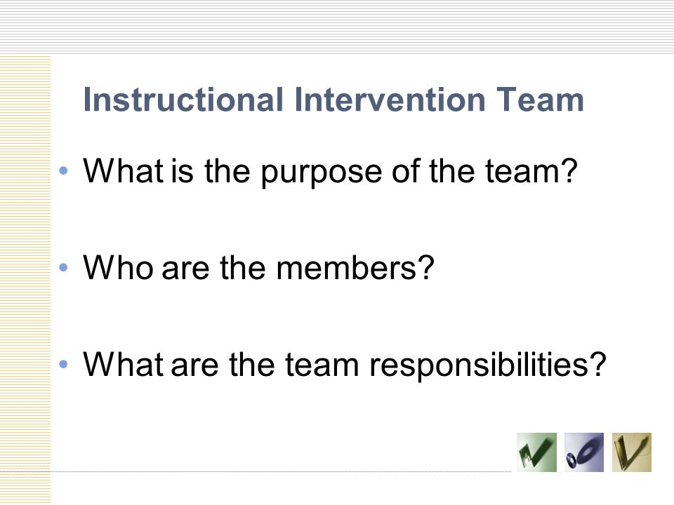 Instructional Intervention Team